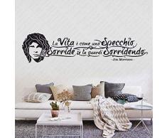 Adesivi Murali Wall Stickers frasi e citazioni sulla Cucina. Aforismi sul cucinare Bisogna innamorarsi dei prodotti e poi delle persone che li cucinano   Gigio Store ©