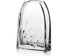 """Vaso, vaso da fiori """"LILY"""", trasparente, rettangolare com decorazioni, 16 x 8 cm, cristallo al piombo, stile moderno (GERMAN CRYSTAL powered by CRISTALICA)"""