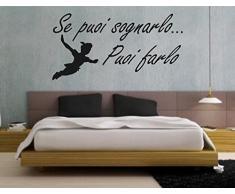 """wall stickers Adesivo murale """"Se puoi sognarlo ......."""" frasi, desideri, love - (57cm x 27cm) - adesivi murali decorazioni interni by tshirteria"""