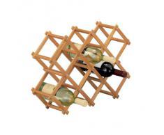 Zeller 13567 Scaffale portabottiglie in bambù 54 x 14.5 x 38 cm