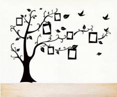 ufengke® Foto in Bianco Albero Cornice Muro Adesivi Murali, Camera da Letto Soggiorno Adesivi da Parete Removibili/Stickers Murali/Decorazione Murale