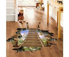 Vovotrade Bello e splendido 3D Ponte pavimento / parete Sticker murale delle decalcomanie del vinile Arte Soggiorno Decori
