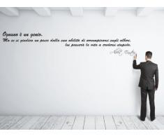 Adesiviamo Albert Einstein 3 L Adesivo Murale, PVC, Nero, 180 x 33 cm