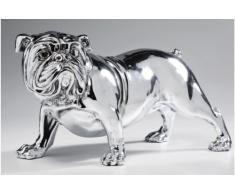 Kare 32840 - Soprammobile Bulldog, 22 cm, colore: Argento