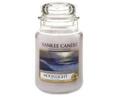Yankee Candle 1507654E Candela Profumata Giara Grande, Fragranza Chiaro di Luna, 623 gr, Vetro, Grigio, 11 x 11 x 20 cm