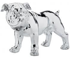 Kare Designs - Soprammobile bulldog, 42 cm, colore: Argento