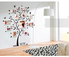 ufengke® Immagine Creativa Albero Photo Frame Adesivi Murali, Camera da Letto Soggiorno Adesivi da Parete Removibili/Stickers Murali/Decorazione Murale