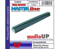 Moquette acustica adesiva per rivestimento box colore grigio perla. Dimensioni cm70x140