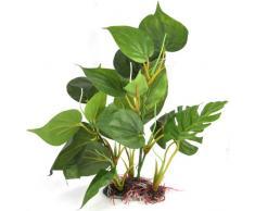 DIGIFLEX Pianta artificiale da acquario aspetto realistico foglie verdi ornamentali 30 cm