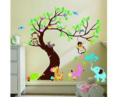Rainbow Fox DIY Immagine estraibile Wall Decor Sticker Decal personalizzati Ragazzi e Ragazze Camera dei bambini del PVC delle decalcomanie