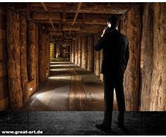 Salzmine Wieliczka / la miniera di sale di Wieliczka FOTOMURALE - XXL tappezzeria da parete /decorazione da parete by GREAT ART (210 x 140 cm