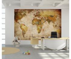 Poster dall'aspetto antico - Decorazione da parete Globo Atlante Mappamondo by GREAT ART (140 x 100 cm)