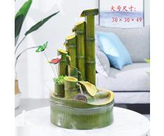 lucky bamboo fontana ruota umidificatore salotto del feng shui decorazione piccolo giardino roccioso arredamento,grattacielo (grandi e nebulizzatore)