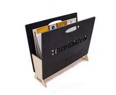 Inexterior, portariviste per riviste, giornali e cataloghi, realizzato in legno di betulla in Germania, 35 x 14 x 30 cm (L x P x A)
