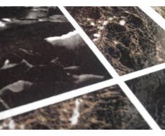 Piastrelle per pavimento di vinile adesive effetto marmo marrone nero x50