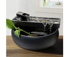 GL-Indoor fountain Fontana da Tavolo Sculture Decorazione, Acqua Ornamenti Paesaggio umidificatore