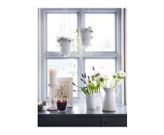 IKEA - Vaso portafiori in acciaio galvanizzato, misura: 12, colore: bianco