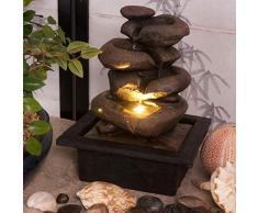 Creative Touch Zen Flow - Fontana dellacqua per interni, con luce LED, dimensioni: 21,5 x 19 x 27 cm, spina inglese a 3 pin inclusa