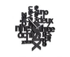 Umbra - Orologio da parete Lingua, colore: Nero