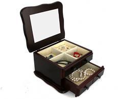 Legno – Portagioie valigetta portagioie gioielli (1406056)