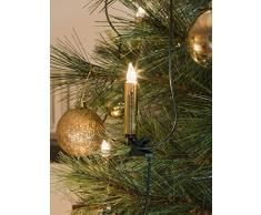 Konstsmide 2336-800 - Luci per albero di Natale, effetto candele di cera, 40 luci, 230 V, per interni, cavo verde, colore: oro