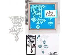 Homo Trends - Fustelle natalizie per biglietti, fustelle in metallo, per goffratura, stencil per biglietti, album di Natale, cartoline, decorazioni artigianali