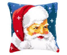Vervaco PN-0144705 Ver - Cuscino con Kit Punto Croce Raffigurante Babbo Natale