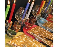 Caspari - Set di 2 candele non profumate, 25 cm, colore celeste