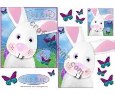 Coniglietto pasquale, con chiusura a linguetta, design di Karen Wyeth
