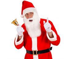 NET TOYS Cappello Rosso da Santa Claus con Barba Bianca Ideale per Travestimenti Natalizi