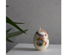 Piccolo Uovo Uova Pasqua candela candela 90 X 70 mm Ecru