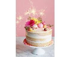 Mini Stelle filanti per Eventi e Compleanni (10 pezzi). Da usare come decorazione, candeline per torte o per divertirsi e festeggiare