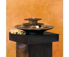 Sogno Feng Shui fontana da tavolo da giardino con ciotole – Suki, pietra grigio