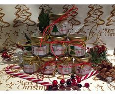 4 mini candele segnaposto natalizio con ciondolo in vasetto personalizzato Merry Christmas Decorazione tavola natalizia Regalo Segnaposto di Natale