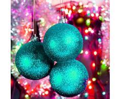 PU ran® 24pcs rotondo decorazioni per albero di Natale da appendere palle palline
