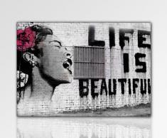 ps-art Banksy - Stampa su tela da parete, 100 x 70 cm, già incorniciata, stampa artistica, pop art decorativa