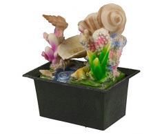 Cascata d'acqua Fontana per interni, effetto calmante Feng Shui scrivania top Feature, Coral Reef