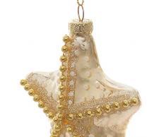 Decorazione natalizia a stella marina in vetro