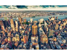 New York City wall mural Manhattan - New York City Skyline Penthouse - 210x140 cm XXL Poster - Tramonto su Manhattan - New York City Skyline - Loft a Manhattan