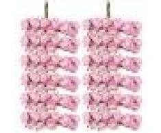 144pz Carta Artificiali Rosa Boccioli Di Fiori Mini Partito Decorazione Feste - Rosa