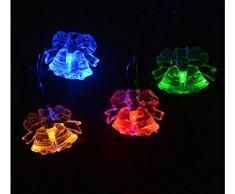 TYTLYA Solare Luci Stringa Esterni Impermeabile 20Led Campanella Matrimonio Natale Giardino Giardino Prato Luce Notturna A Risparmio Energetico, Luce Colorata