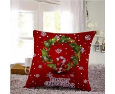 Cuscino di Christmas, Longra Set di cuscino di lino di Natale di 45cmX45cm (N)