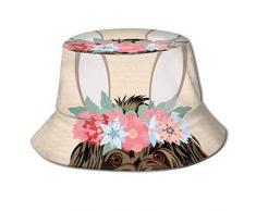 Cappellino da Sole Buona Pasqua Cartoline dauguri Uova Bella Benna Cappello da Sole per Uomo Protezione da Donna Cappellino Estivo da Pescatore Ripiegabile