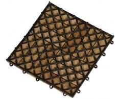 Siena Garden 608833 Piastrelle per pavimenti in legno, 11 pezzi, 30 x 30 x 2.5 cm