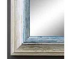 Artecentro Cornice per Quadri Tele - Shabby Chic Bianco-Colore in Legno Varie Misure Offerta (Bianco/Blu, 30x40)