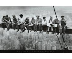 1art1, 331, Poster, motivo: New York - Pausa pranzo in cima al grattacielo, 1932, 91 x 61 cm