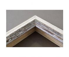 Artecentro Cornice per Quadri Tele - Shabby Chic Bianco-Colore in Legno Varie Misure Offerta (Bianco/Marrone, 70x100)