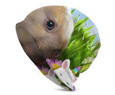 Unisex Beanie cap,Bellissimo Coniglietto Pasquale E Cappello Colorato per Adulti con Uova Colorate, Tappi per Cranio per Adulti alla Moda per Arrampicata Escursionismo in Viaggio