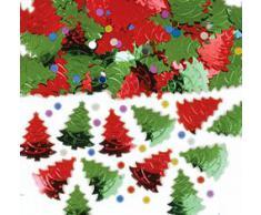 Amscan International coriandoli 37911 albero di Natale, colore: Rosso/Verde, 14 G