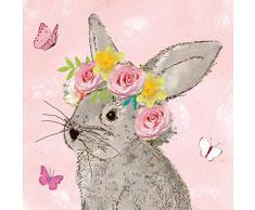 Tovaglioli (2 Set / 40 pezzi) 3 strati 33 x 33 cm Primavera Pasqua Coniglietto pasquale Beauty